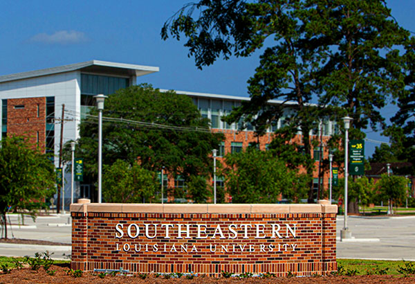 New Tech Building and Southeastern Entrance Sign