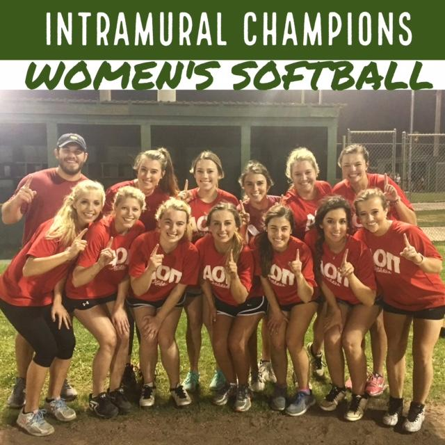 Women's Softball Champions Spring 2017