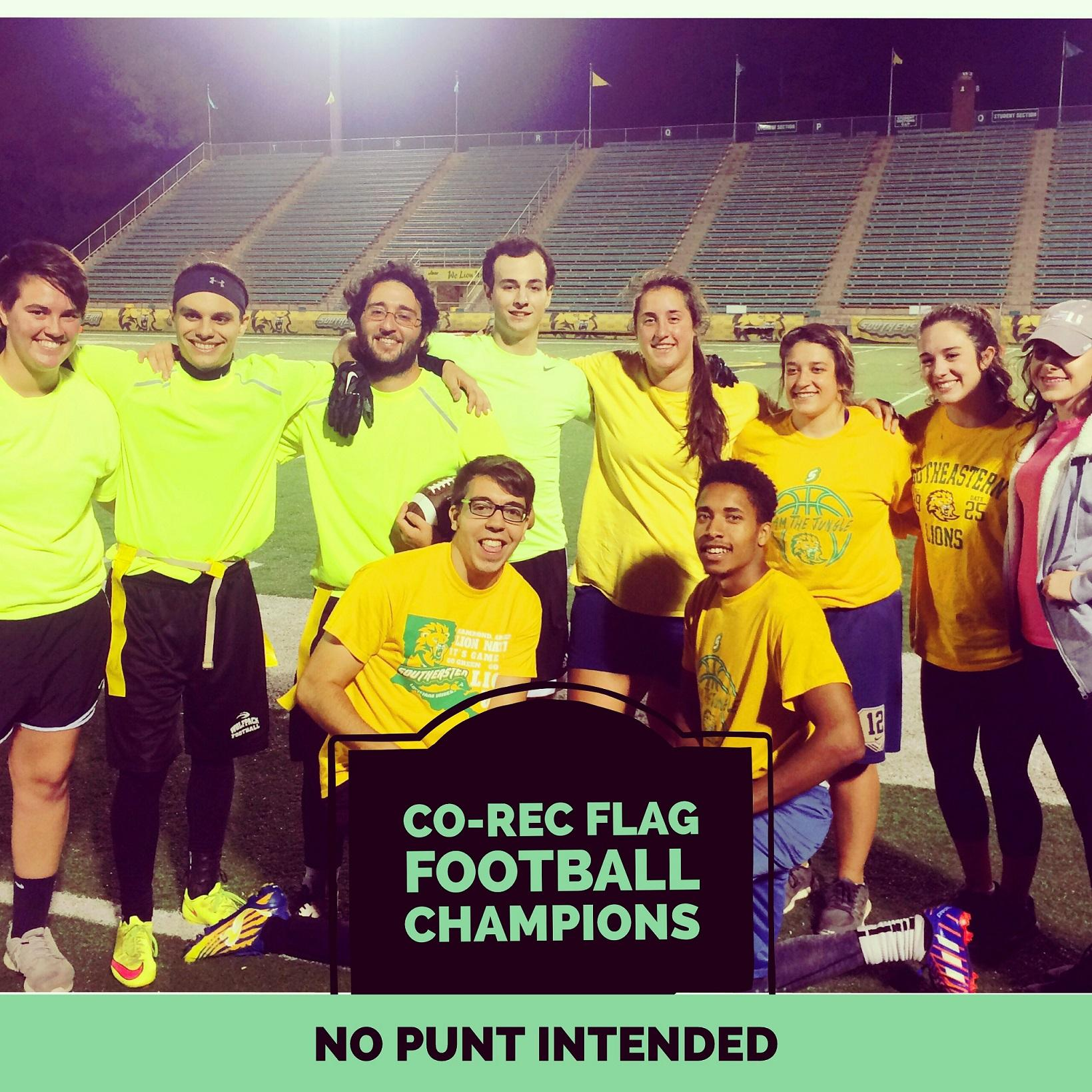 Co-Rec Flag Football Fall 2016 Intramural Champions