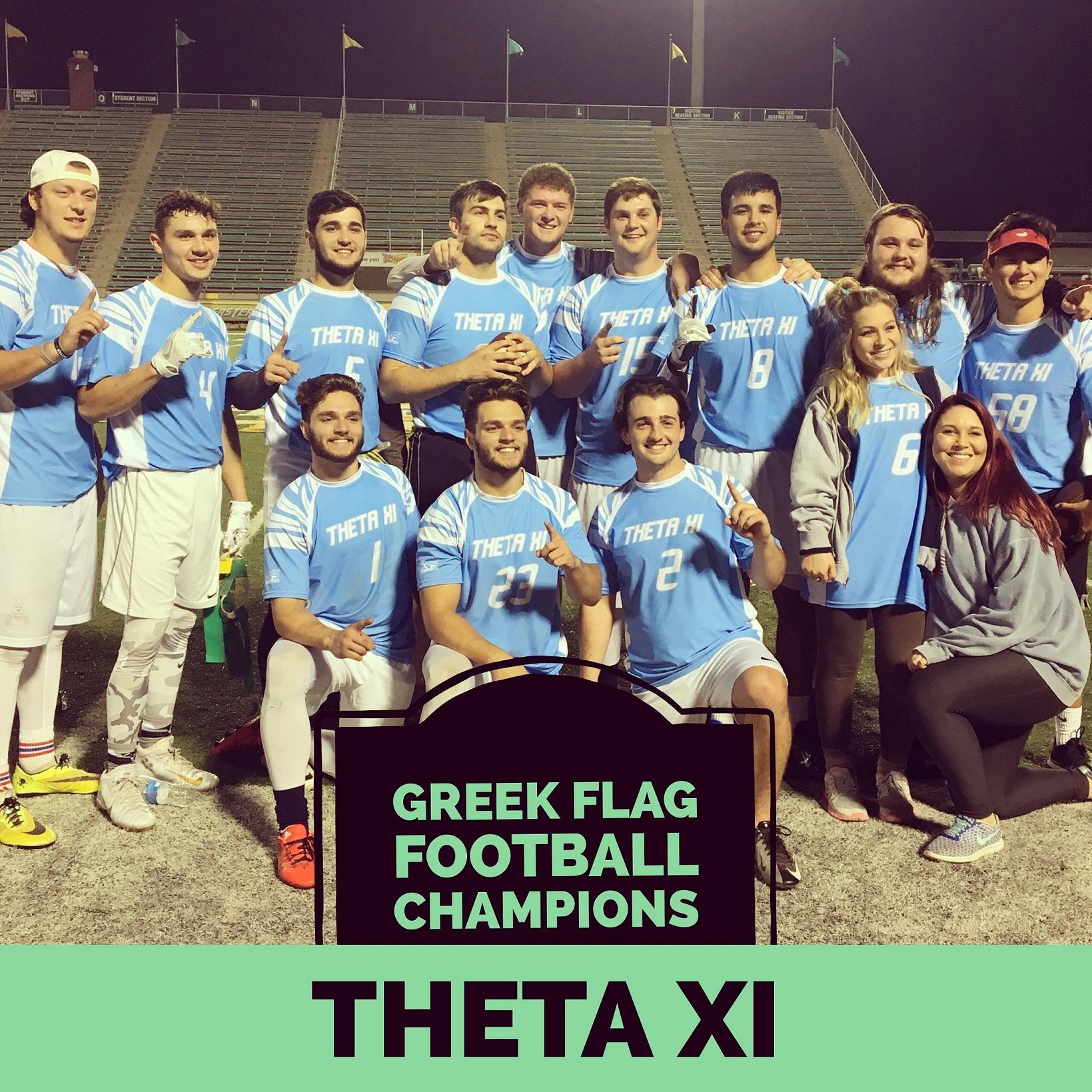 Greek Flag Football Fall 2016 Intramural Champions