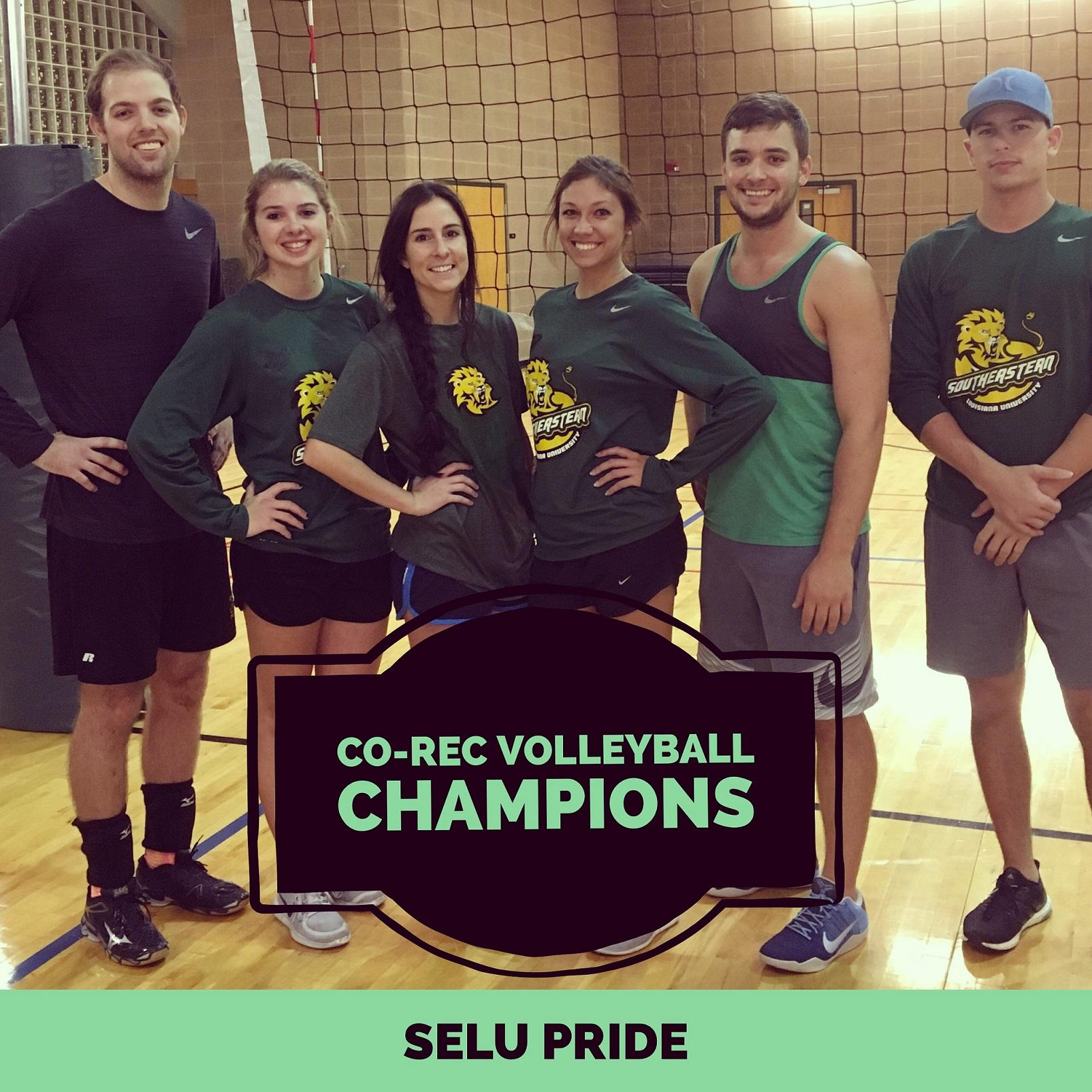 Co-Rec Volleyball Fall 2016 Intramural Champions