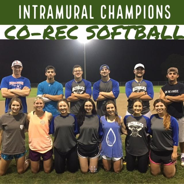 Co-Rec Softball Champions Spring 2017
