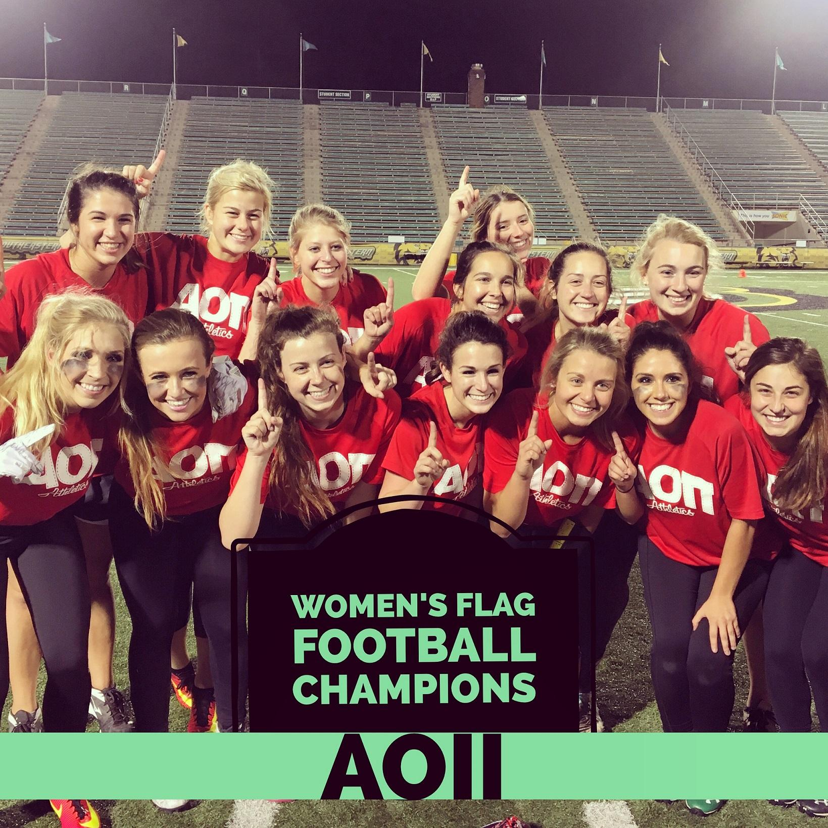 Women's Flag Football Fall 2016 Intramural Champions