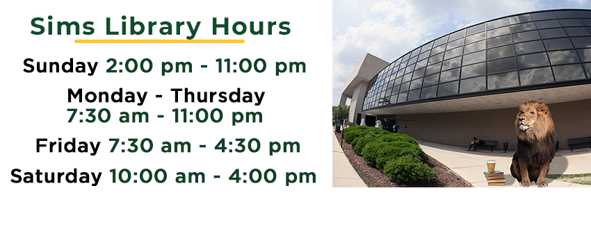 See Fall 2021 Library hours, including holidays and adjusted times, here