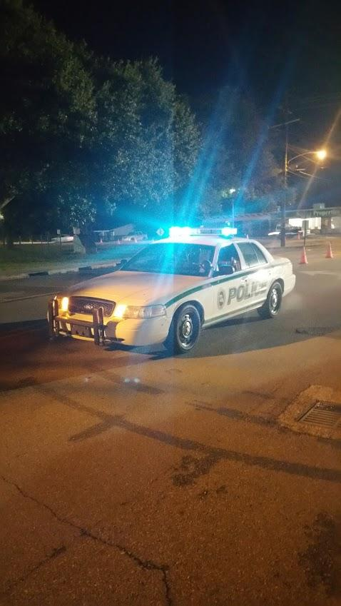 Cop Car at Night