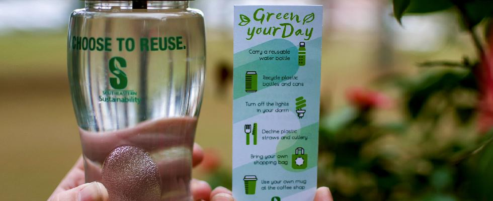 Help eliminate plastic bottles across campus #IChooseToReuse
