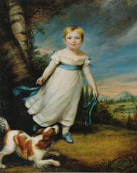Childhood Portrait of John Ruskin (1822) by James Northcote, R.A. (1746-1831)