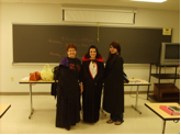 Mary Mocsary and students at a Vampire Lecture