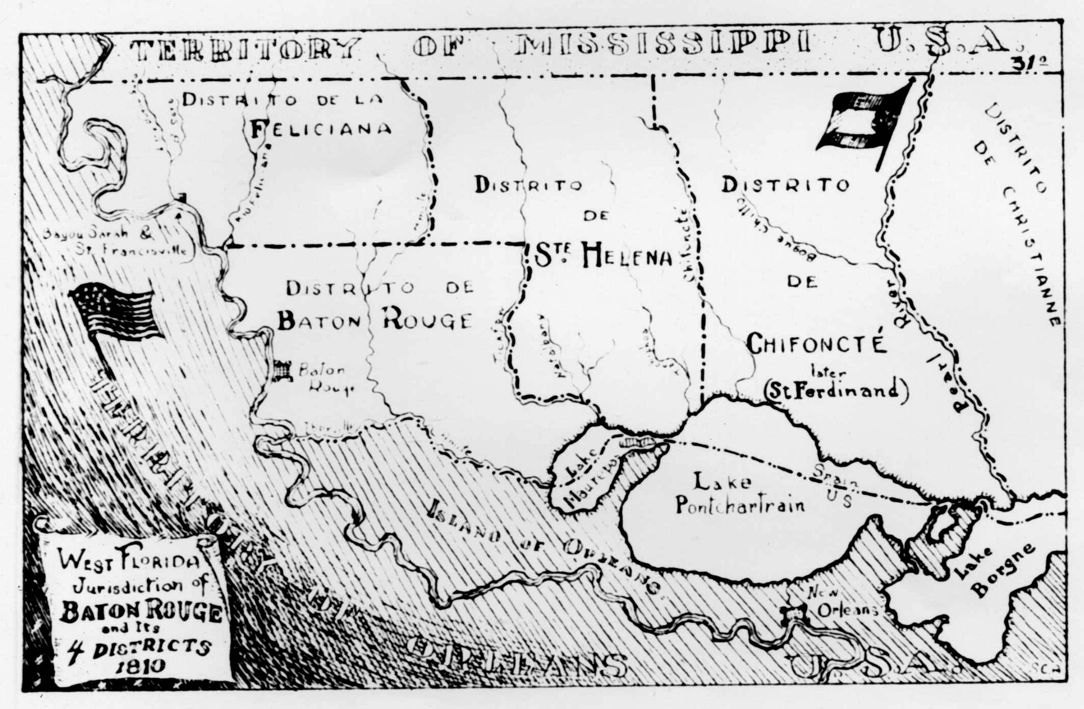 West Florida Map.West Florida Bicentennial