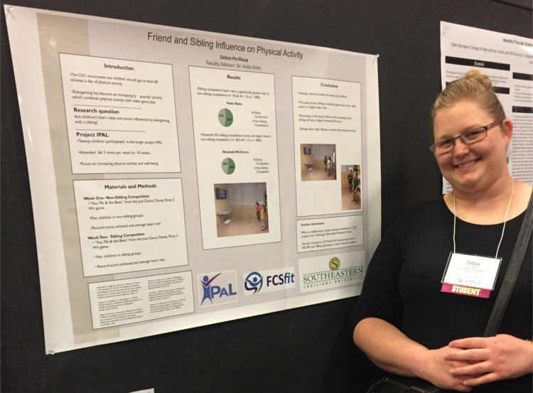 Family and Consumer Sciences student Debra Perilloux presenting her research from her Real-World Ready course at the AAFCS 109th National Conference and Expo in Dallas, TX.
