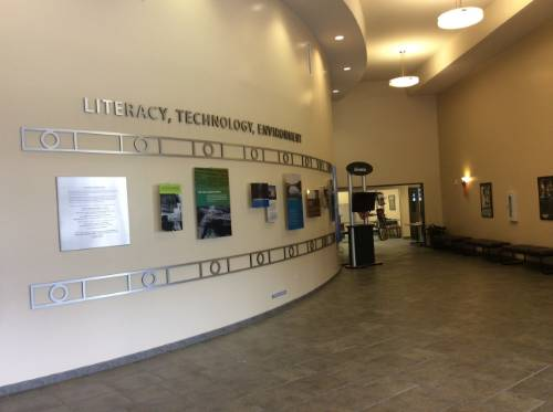 Literacy and Technology Center Wall of Memory
