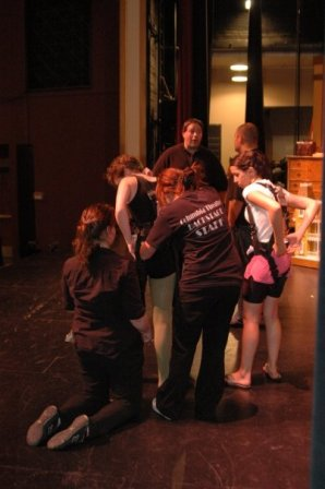 SLU students working on the crew for Peter Pan at the Columbia Theatre
