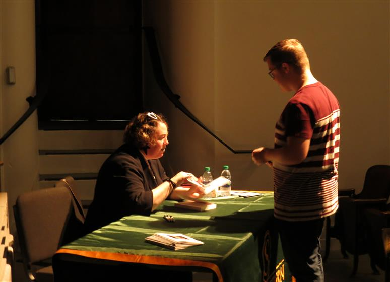 Kelly Link at the book signing event