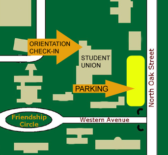 Southeastern Louisiana University Campus Map MAP