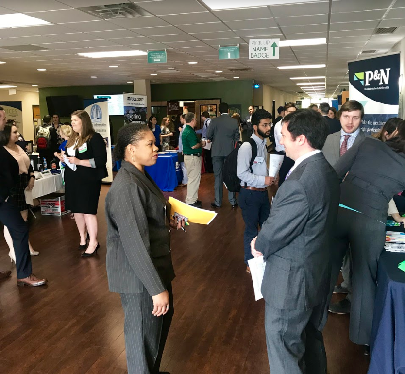 Students interacting with Employers at Biz-Connect