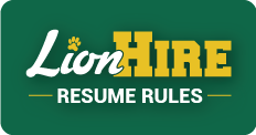 LionHire Resume Rules