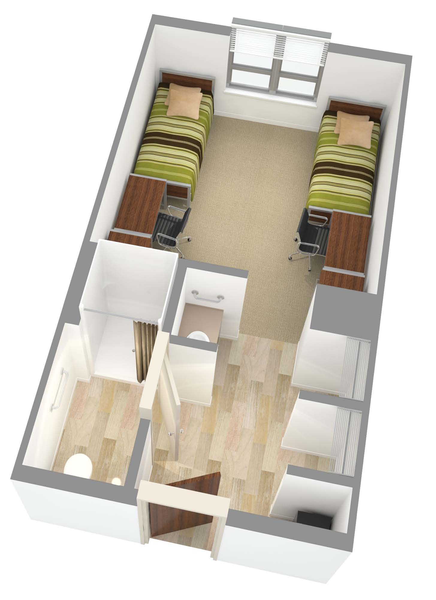 New Residence Halls - Shared Room Layout