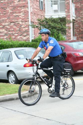 Bike patrol officer