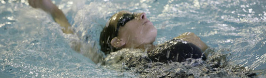 Picture of female student swimming