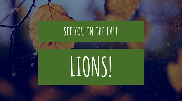 See you in the Fall!