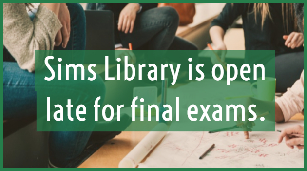 Sims Library Extended Hours