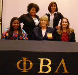 Phi Beta Lambda officers