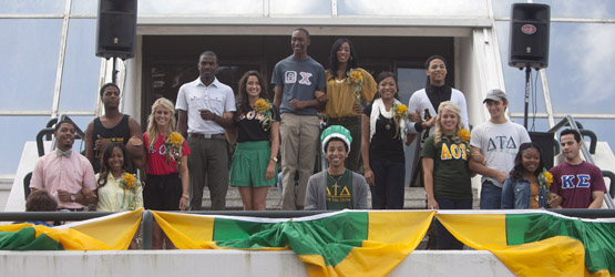 Homecoming Court presented at Gumbo YaYa