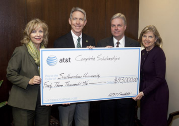 AT&T gives scholarship funds