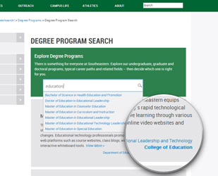 Degree Search