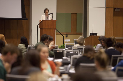 Barbara Forrest addresses Academic Summit