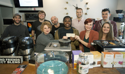 Campus Coffee Ministry makes donation