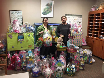 Easter Baskets collected