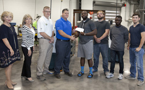 Southeastern receives donation from performance contractors
