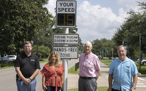 Southeastern receives grant from State Farm for speed signs