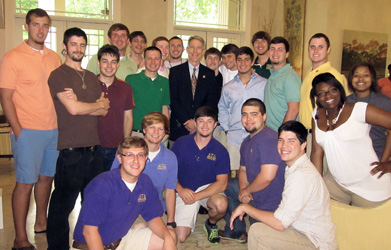Students treated to lunch with President Crain