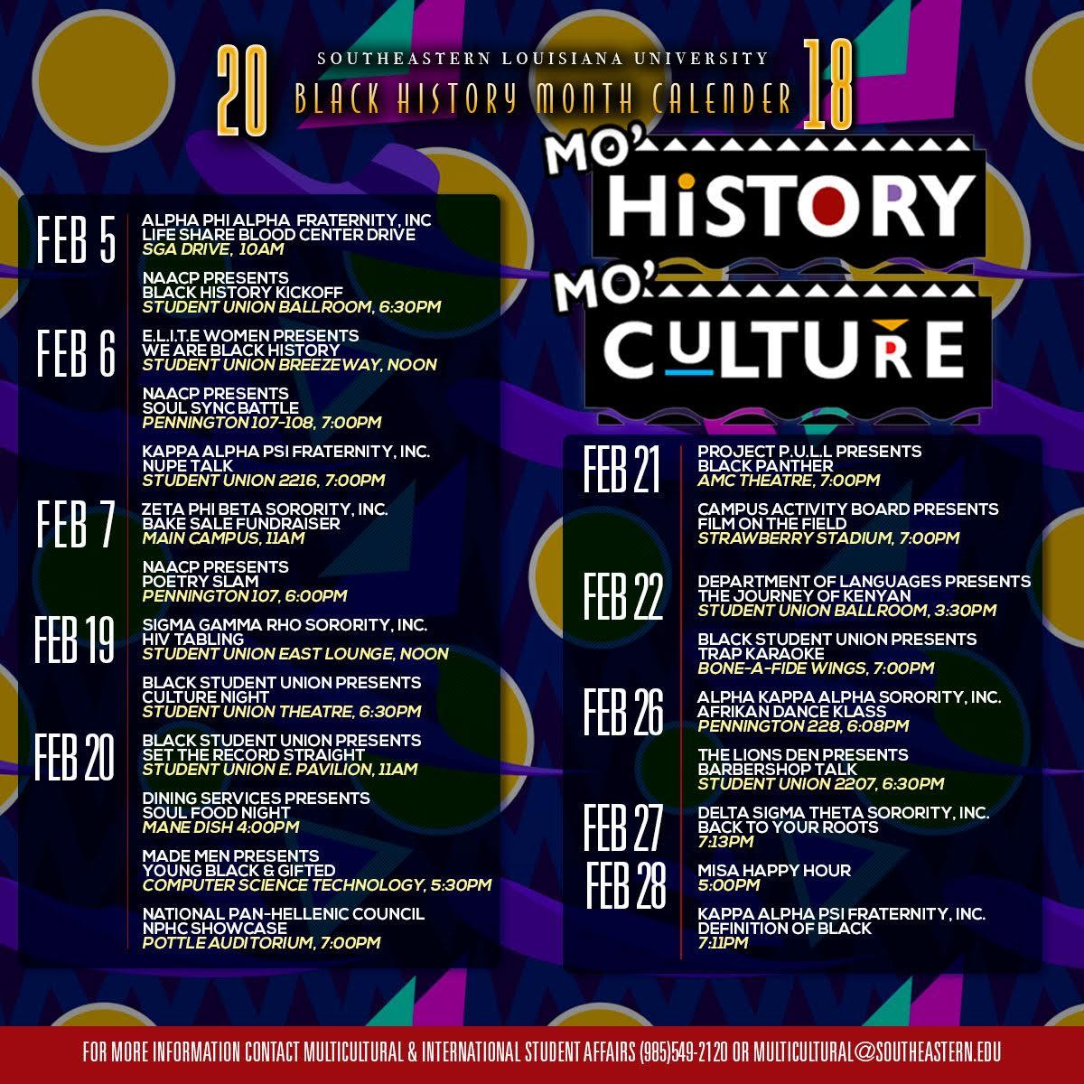 Black History Month Women'S History Month Calendar