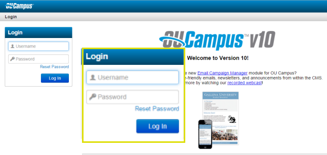 Log into OU Campus